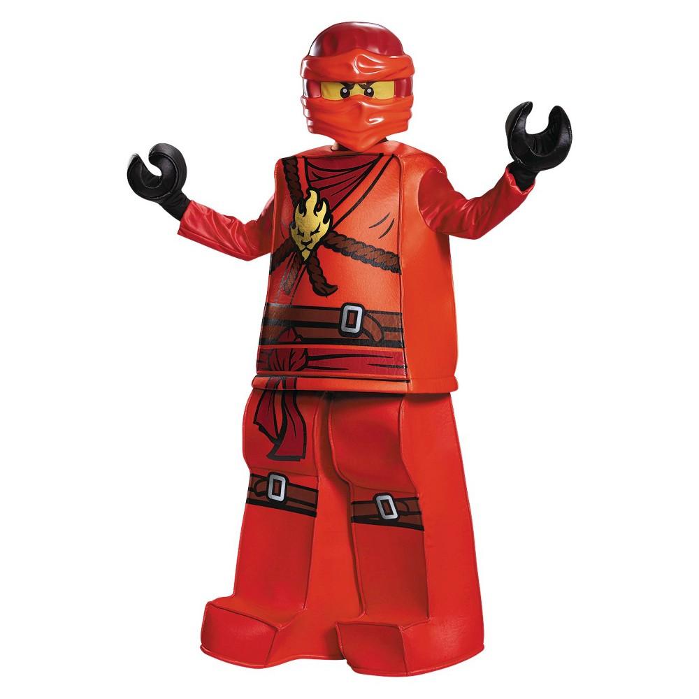 Disguise Lego Boys' Ninjago Kai Prestige Costume - Small, Size: S(4-6), Multicolored
