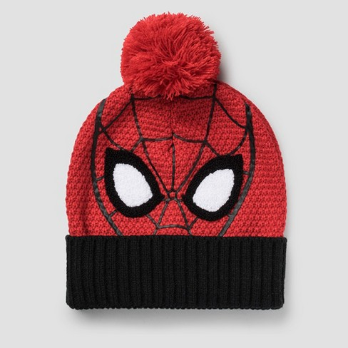Kids  Marvel Spider-Man Beanie - Red One Size   Target 874f5e4f28d