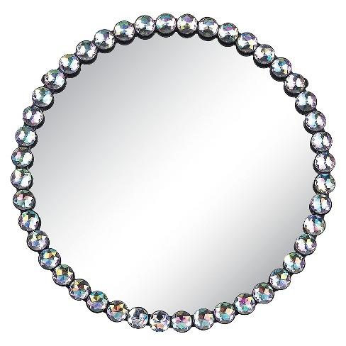 Round Jewel-Edged Decorative Wall Mirror - Lazy Susan - image 1 of 1