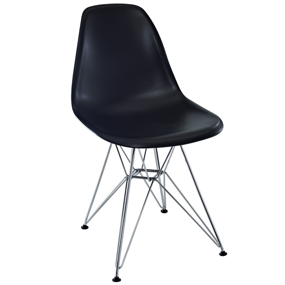 Paris Dining Side Chair Black Modway