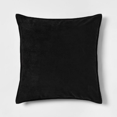 Faux Suede Oversize Square Throw Pillow Black - Project 62™