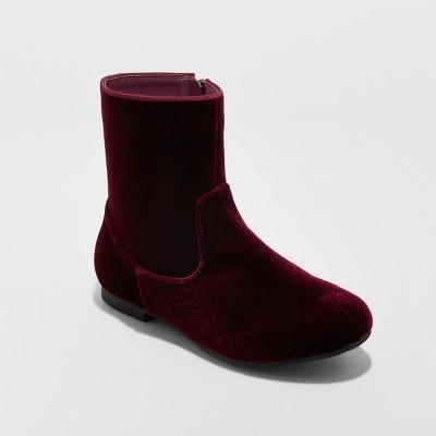Girls' Paris Velvet Fashion Boots - art class™ Burgundy 2
