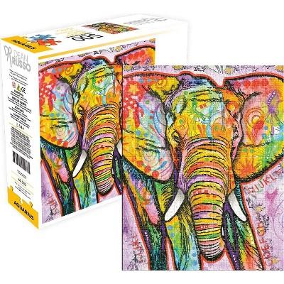 Aquarius Puzzles Dean Russo Elephant 500 Piece Jigsaw Puzzle