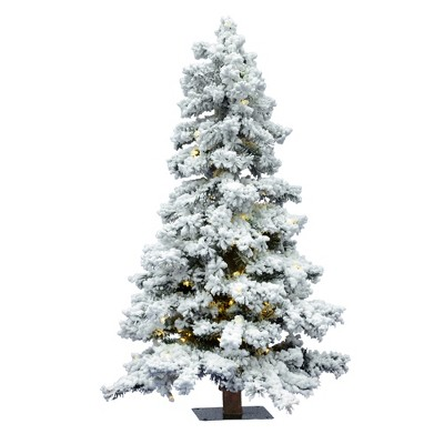 Vickerman Flocked Spruce Alpine Artificial Christmas Tree