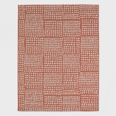 8' x 10' Dot Grid Outdoor Rug Coral - Project 62™