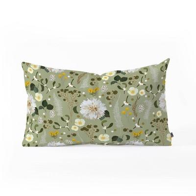 Iveta Abolina Ava Morning Oblong Lumbar Throw Pillow Black - Deny Designs