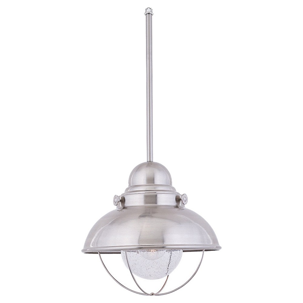 Sea Gull Lighting Single-Light Sebring Outdoor Pendant, White
