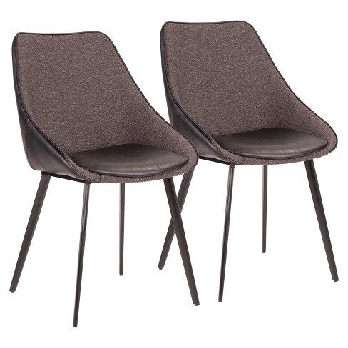 Set of 2 Marche Contemporary Two Tone Chair - LumiSource - image 1 of 10