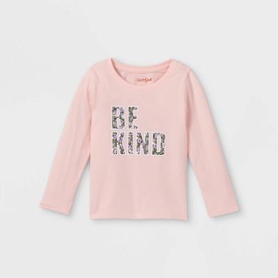 Toddler Girls' 'Be Kind' Long Sleeve Graphic T-Shirt - Cat & Jack™ Powder Pink