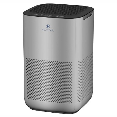Medify Air MA-15-S1 Compact Home Air Purifier with Dual H13 True HEPA Filter Removes 0.10 Micron Dust Pollen Particles, Silver