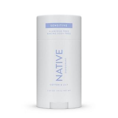 Native Sensitive Cotton & Lily Deodorant for Women - 2.65oz