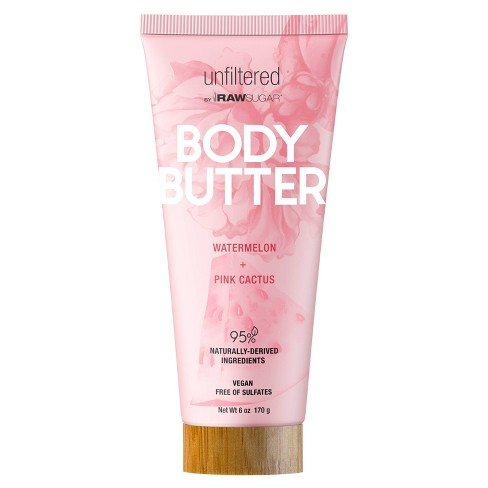 Unfiltered By Raw Sugar Pink Cactus and Watermelon Body Butter - 6oz - image 1 of 4
