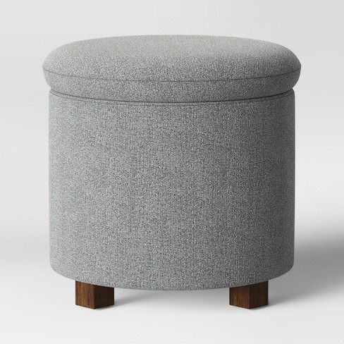 Marvelous Pamona Round Ottoman Gray Project 62 Evergreenethics Interior Chair Design Evergreenethicsorg