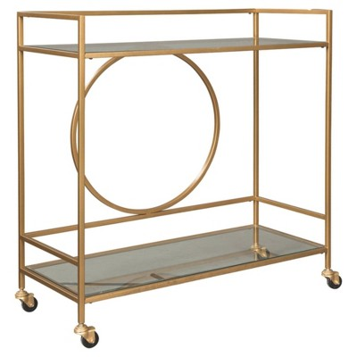 Jackford Bar Cart Antique Gold Finish - Signature Design by Ashley