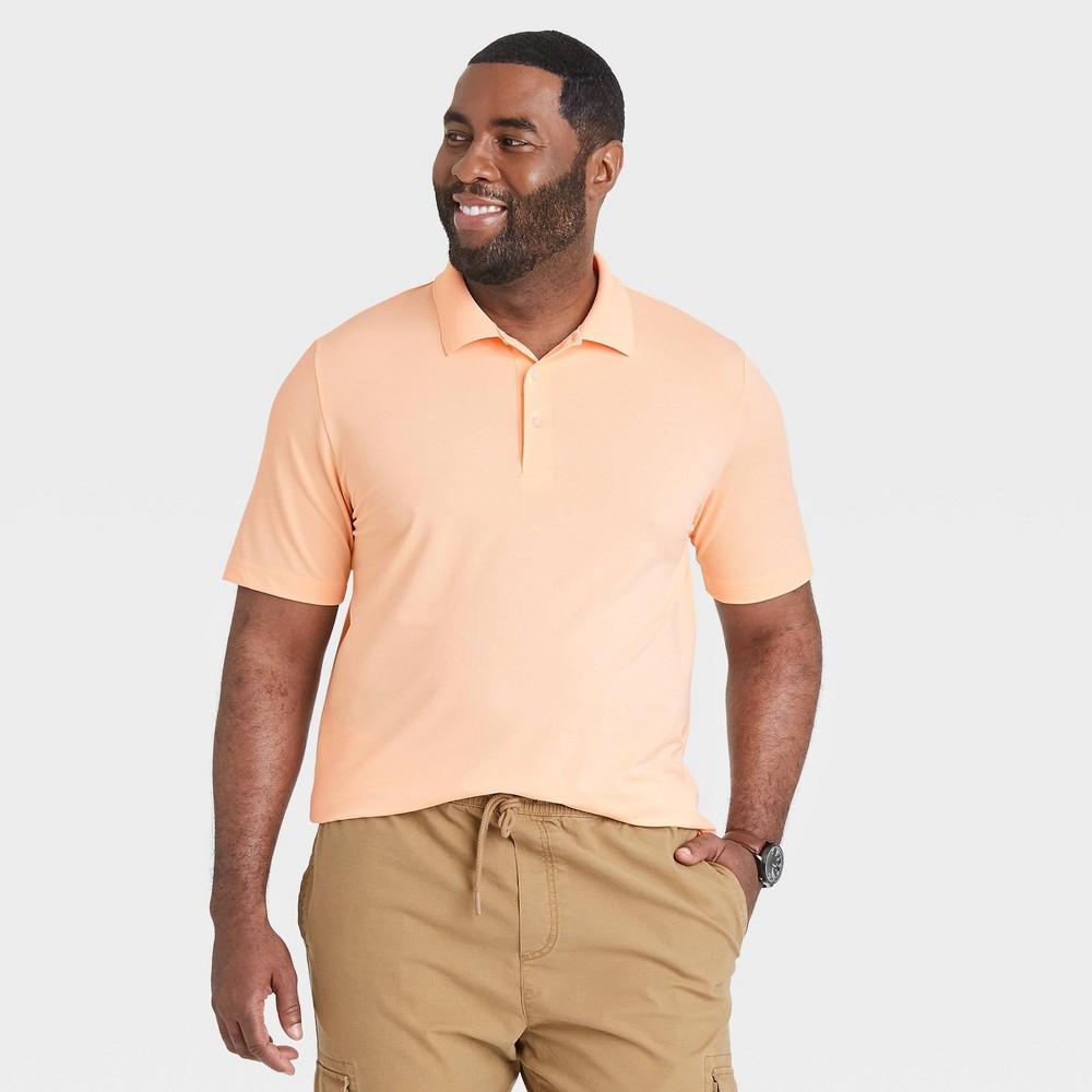 Men 39 S Big 38 Tall Short Sleeve Performance Polo Shirt Goodfellow 38 Co 8482 Orange 3xbt