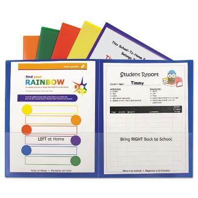C-Line Classroom Connector Folders Assorted 6/Pk 32010