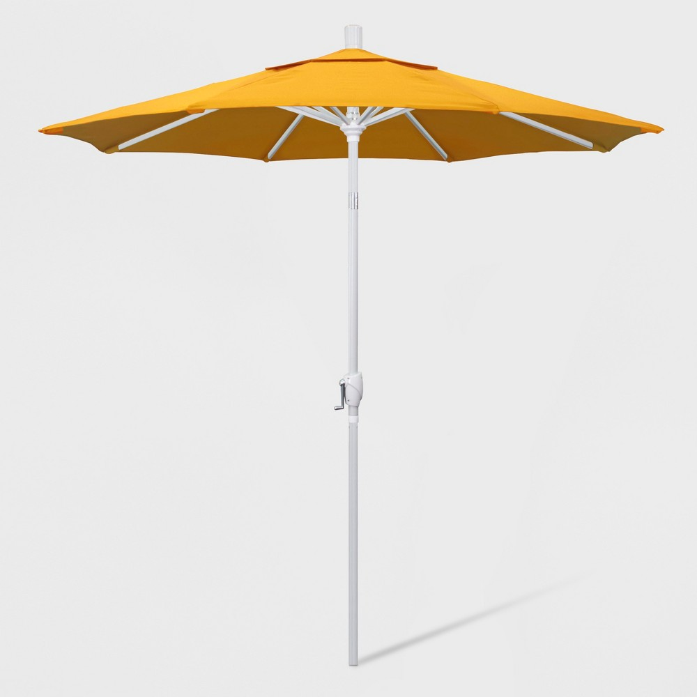 7.5' Aluminum Push Tilt Patio Umbrella Lemon (Yellow) - California Umbrella