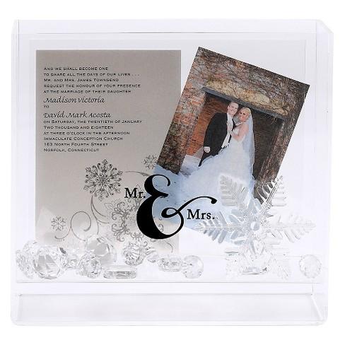 """2"""" x 3"""" Mr & Mrs Box Frame - White - image 1 of 1"""
