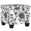 Fairland Square Storage Ottoman Shaded Floral Blue - Threshold™ - image 2 of 4
