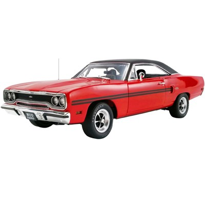 """1970 Plymouth GTX Red and Black """"The Mod Squad"""" (1968-1973) TV Series Ltd Ed to 504 pcs Worldwide 1/18 Diecast Model Car by GMP"""