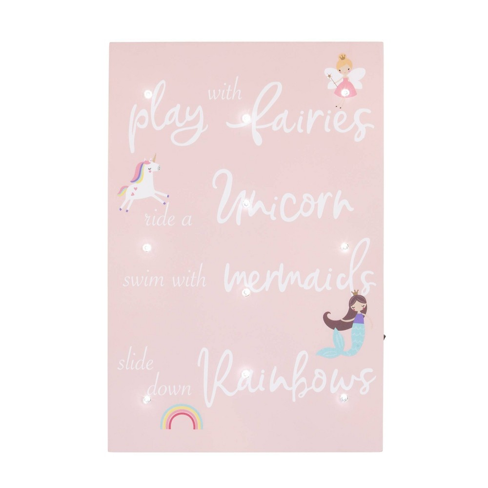 Image of NoJo Little Love Play with Fairies Lighted Wall Decor