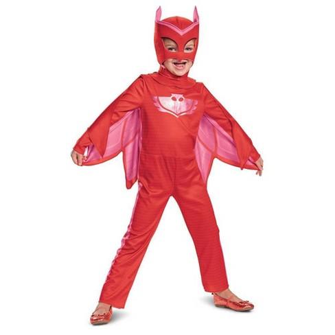 Pj Masks Halloween Costume.Toddler Pj Masks Owlette Deluxe Halloween Costume 2t