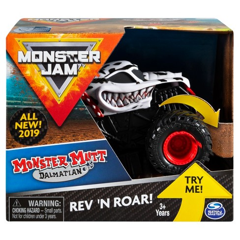 Monster Jam Official Monster Mutt Dalmatian Rev 'N Roar Monster Truck - image 1 of 5