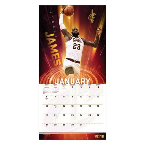 Nba Calendar 2019 2019 Wall Calendar NBA Superstars   Trends International : Target