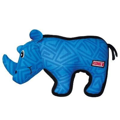 KONG Ripstop Rhino Dog Toy - Blue