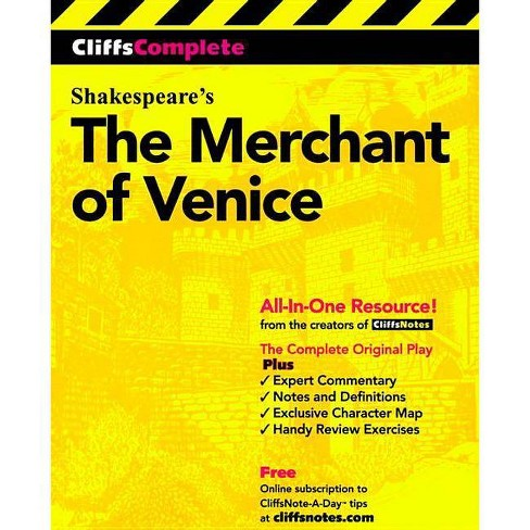 Cliffscomplete Merchant Of Venice Cliffs Complete By William Shakespeare Paperback Target