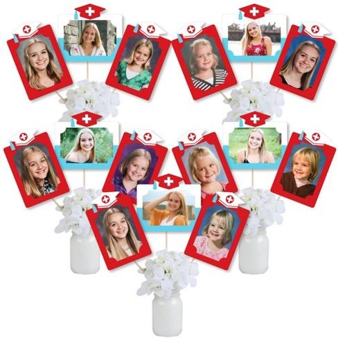 Big Dot of Happiness Nurse Graduation - Medical Nursing Graduation Party Picture Centerpiece Sticks - Photo Table Toppers - 15 Pieces - image 1 of 4