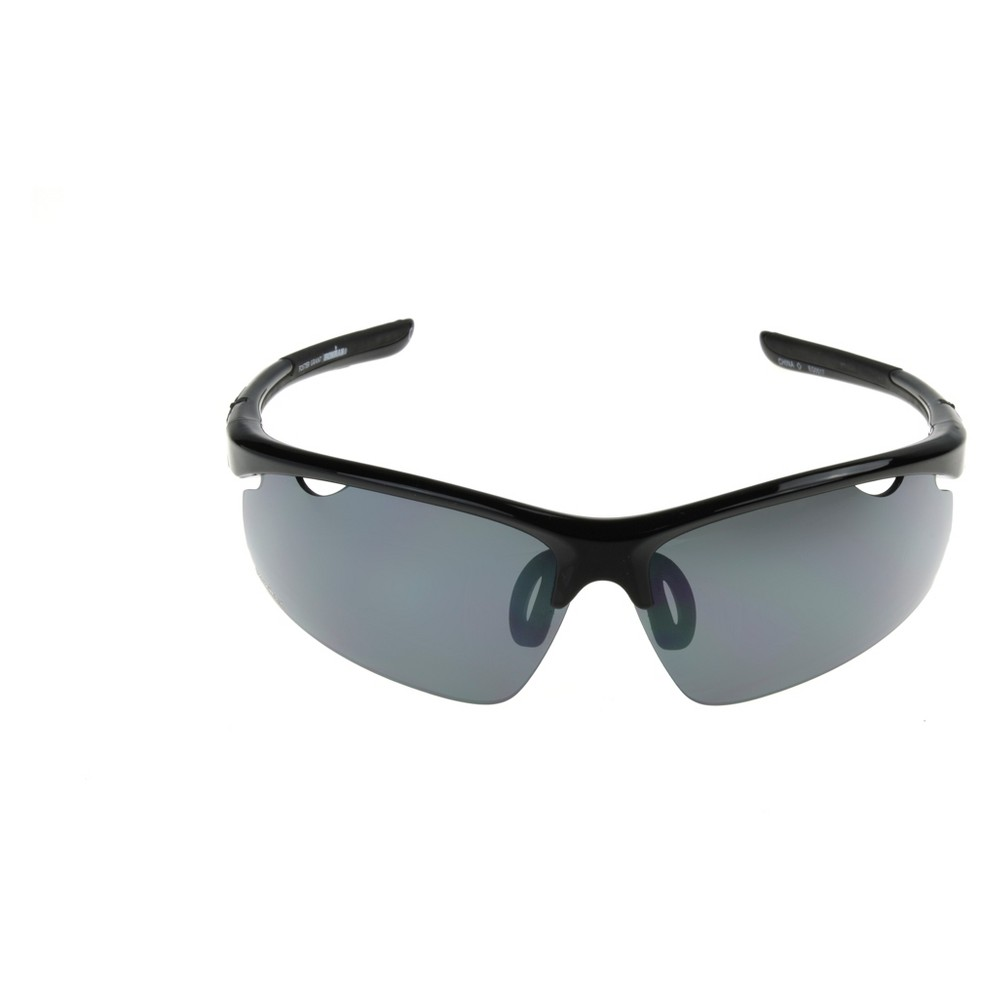 Image of Men's Ironman Polarized Semi-Rimless Sportwrap Sunglasses - Black, Size: Small