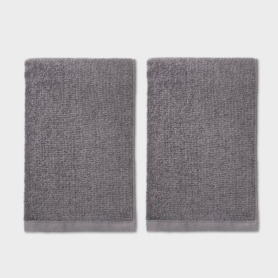 2pk Hand Towel Set Dark Gray - Room Essentials™