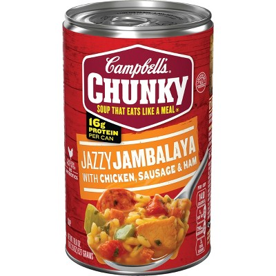 Campbell's Chunky Jazzy Jambalaya with Chicken, Sausage & Ham Soup - 18.6oz