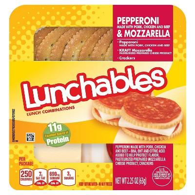 Oscar Mayer Lunchables Lunch Combinations Pepperoni & Mozzarella 2.25 oz