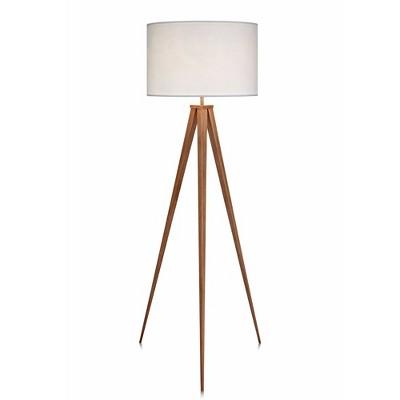 """60"""" Tripod Floor Lamp with Shade White - Versanora"""