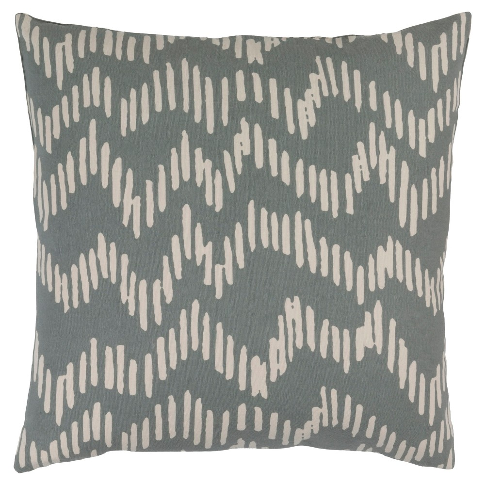 Slate (Grey) Doniford Abstract Throw Pillow 20