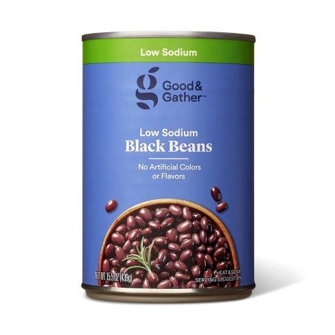 Low Sodium Black Beans  - 15.5oz - Good & Gather™ - image 1 of 2