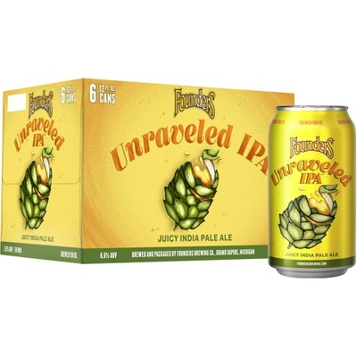 Founders Unraveled IPA Beer - 6pk/12 fl oz Cans