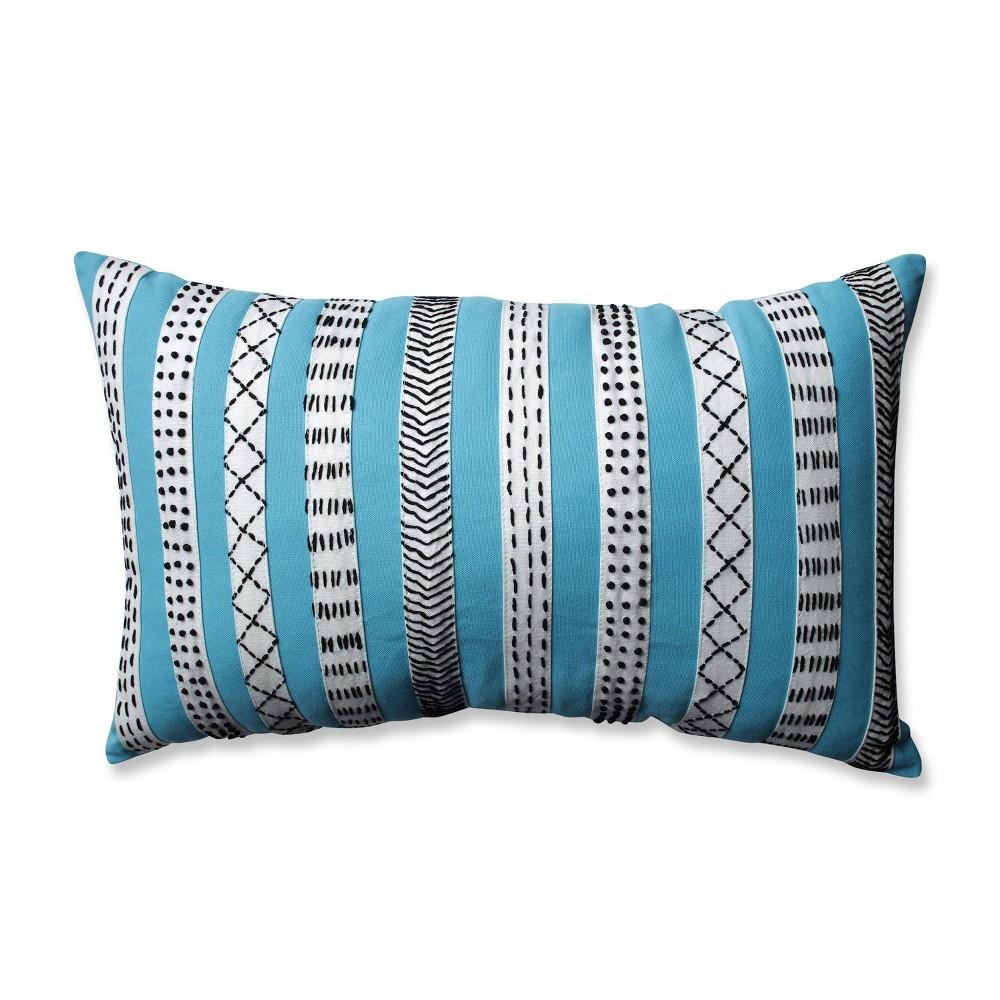 12 34 X20 34 Decorative Bands Lumbar Throw Pillow Turquoise Pillow Perfect