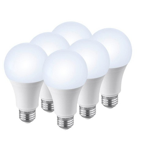 Monoprice Premium A21 LED Bulb - 4000K ( 6 Pack ) 100 Watt Equivalent, Pure White High CRI 90, 1600LM Dimmable - image 1 of 4