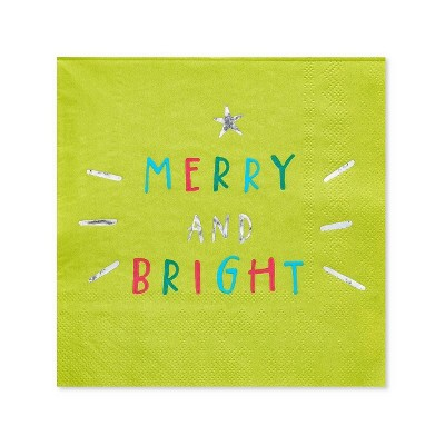 20ct Christmas Making Spirits Bright Beverage Napkin - PAPYRUS