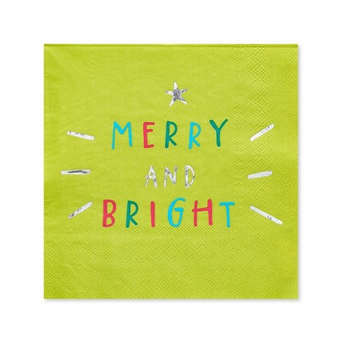 Making Spirits Bright Christmas Cocktail Napkins 16ct