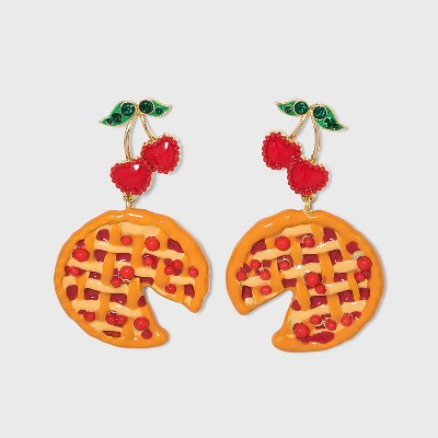 SUGARFIX by BaubleBar Cherry Pie Drop Earrings - Red