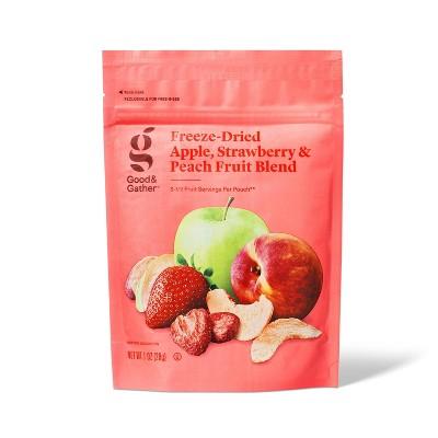 Apple, Strawberry, & Peach Freeze Dried Fruit Blend - 1oz - Good & Gather™