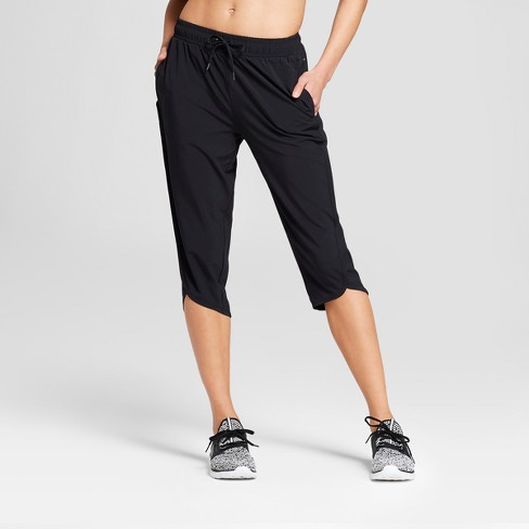 Women's Cropped Woven Pants - JoyLab™ Black - image 1 of 2