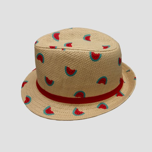Baby Girls' Watermelon Fedora - Cat & Jack™ 12-24M - image 1 of 2