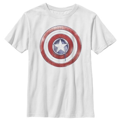 Boy's Marvel The Falcon and the Winter Soldier Paint Shield T-Shirt