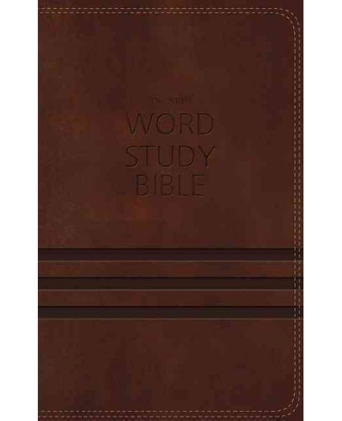 NKJV Word Study Bible : New King James Version, Brown, Leathersoft (Paperback) (Thomas Nelson) - image 1 of 1
