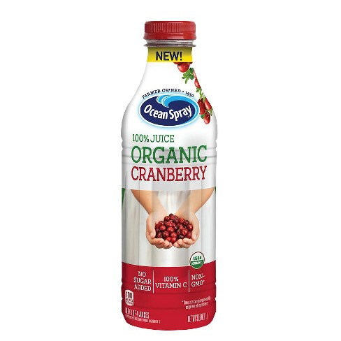 Ocean Spray 100% Organic Cranberry Juice - 33.8 fl oz Bottle - image 1 of 1